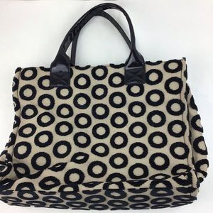 Kate Landry Beige and Black Contemporary Tote
